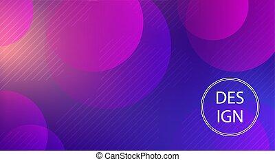 bleu, cercles, lumière, résumé, formes, fond, géométrique