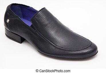 bleu, chaussure