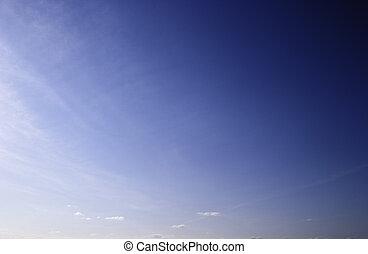 bleu, ciel clair