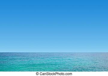 bleu, ciel clair, mer, gentil