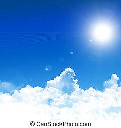 bleu, ciel, fond