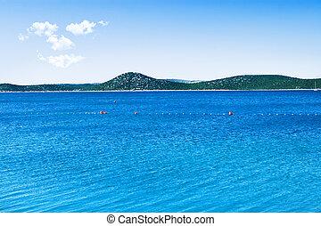 bleu ciel, mer