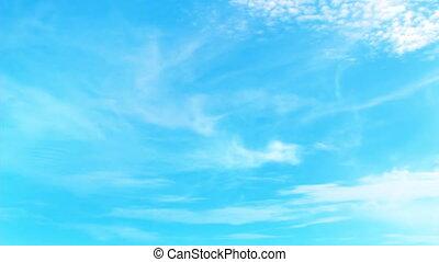 bleu clair, ciel, animation, entiers, hd, 3d
