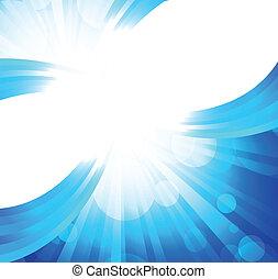 bleu, clair, fond