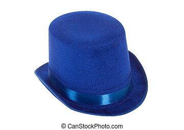 bleu, claque, chapeau