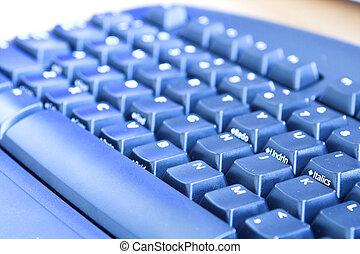 bleu, clavier