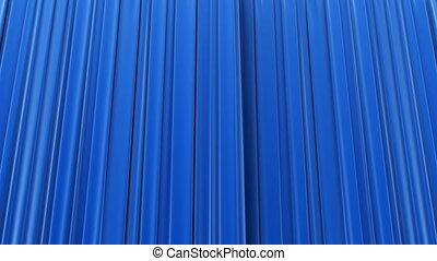 bleu, closing., rideau, ouverture
