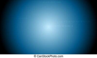 bleu, code binaire, système, sombre, animation, vidéo