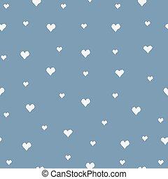bleu, coeur, seamless, modèle
