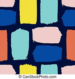 bleu, coloré, modèle, seamless, isolé, sombre, arrière-plan., coup, brosse, textured