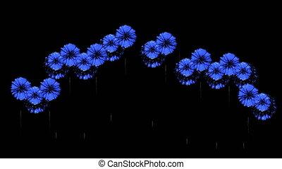 bleu, coloré, spectaculaire, render., feux artifice, firecrakers, version, 66, night., 3d