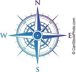 bleu, compas