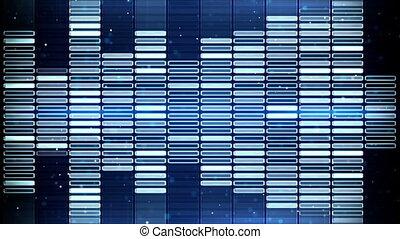 bleu, compensateur, seamless, animation, musique, boucle