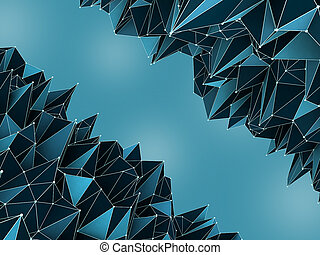 bleu, concept abstrait, fond, numérique