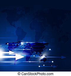 bleu, concept, business, fond