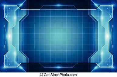 bleu, concept., illustration, vecteur, fond, technologie