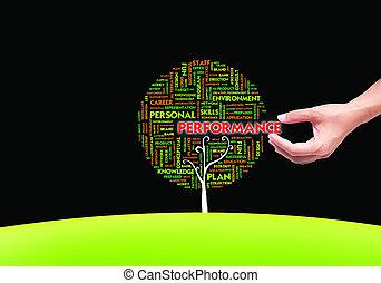 bleu, concept, mot, formulaire, business, arbre, main, ...