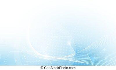 bleu, concept, résumé, fond, technologie, futuriste