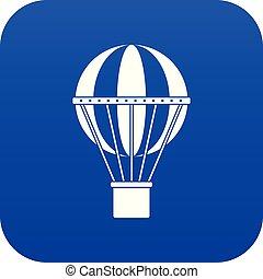 bleu, concept, voyage, global, numérique, icône