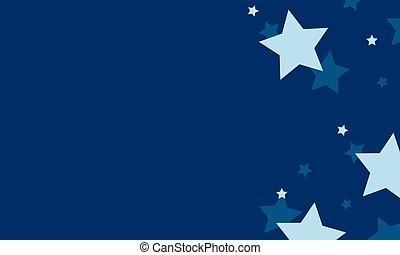 bleu, conception, étoile, fond, collection