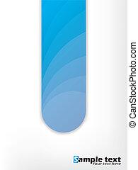 bleu, conception abstraite, forme, fond
