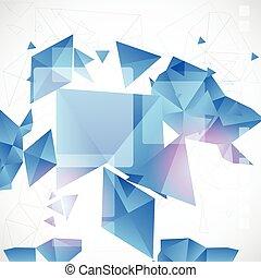 bleu, conception abstraite, futuriste, fond