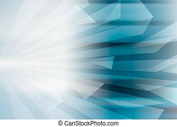 bleu, conception abstraite, géométrique, fond