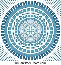 bleu, conception, art, lignes, fond