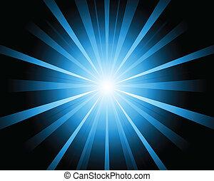 bleu, conception couleur, éclater