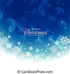 bleu, conception, noël, fond, flocons neige