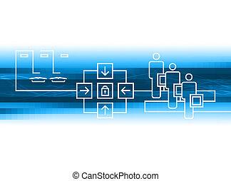 bleu, connexion
