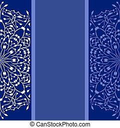 bleu, copie, fond, espace