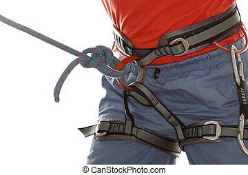 bleu, corde, noeud