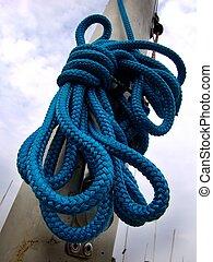 bleu, corde