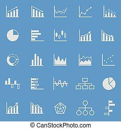 bleu, couleur, graphique, fond, icônes