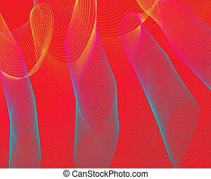 bleu, couleur, modèle, lignes, jaune, arrière-plan., clair, grille, rouges