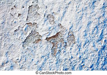 bleu, couleur, mur