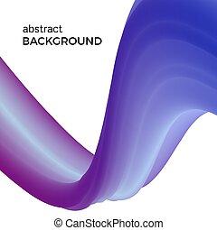 bleu, couleur, résumé, aquarelle, vagues, composition