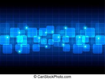 bleu, couleur, résumé, fond, table, rond, rectangle