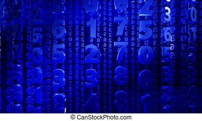 bleu, couleur, résumé, nombres