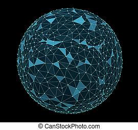 bleu, coupure, image, numérique, sentier, mondiale, black.