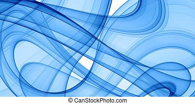 bleu, courbes