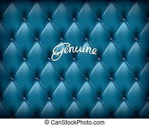 bleu, cuir, authentique, buttoned