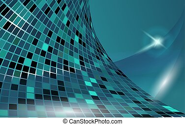 bleu, cyberespace, horizontal, vecteur, gabarit