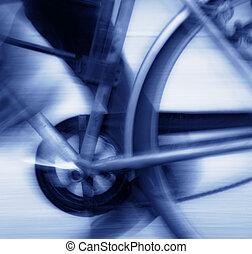 bleu, cyclisme, tonalité, barbouillage
