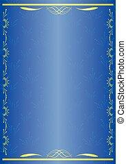 bleu, décoratif, vecteur, carte