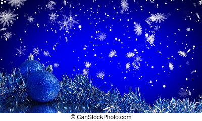 bleu, décoration, arbre, noël