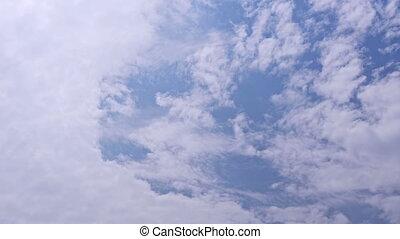 bleu, défaillance, nuages, ciel, temps