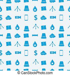 bleu, défi, seau, glace, vecteur, fond, monochrome