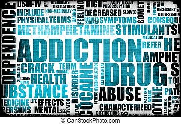 bleu, dépendance, drogue